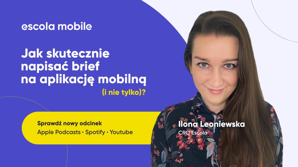 Ile kosztuje aplikacja mobilna i webowa? EM #80 Ilona Leoniewska CRO Escola S.A.