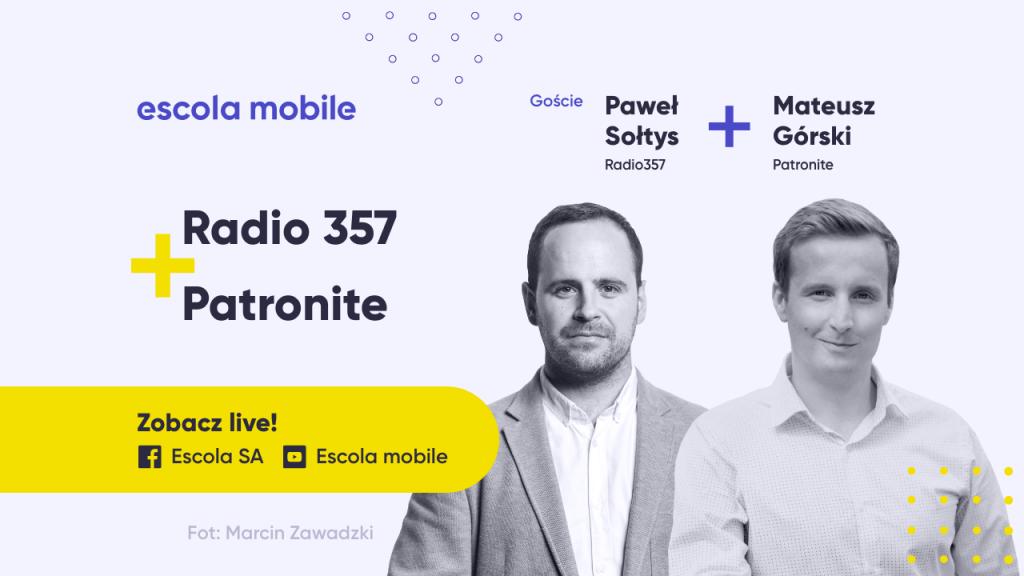 Radio 357. Siła patronów. Magia radia. Paweł Sołtys (Radio 357) Mateusz Górski (Patronite)